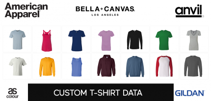 custom t-shirt sample data