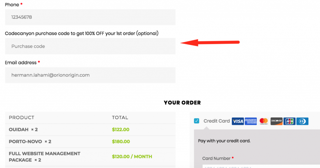 WooCommerce Product Designer removed from CodeCanyon:CodeCanyon field on Checkout page